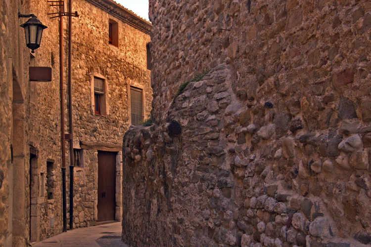A narrow medieval street