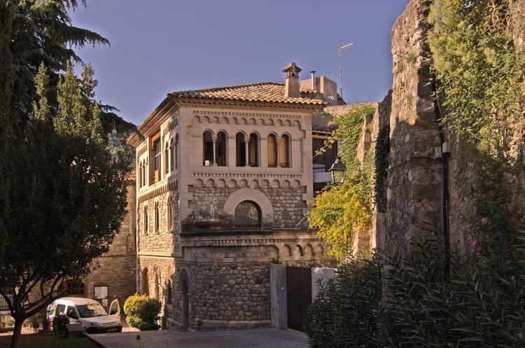 An elegant stone house
