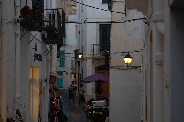 Cadaques a street in early evening