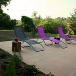 Terrace and loungers