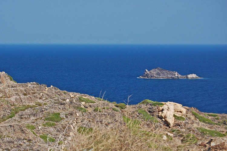 An island near the lighthouse