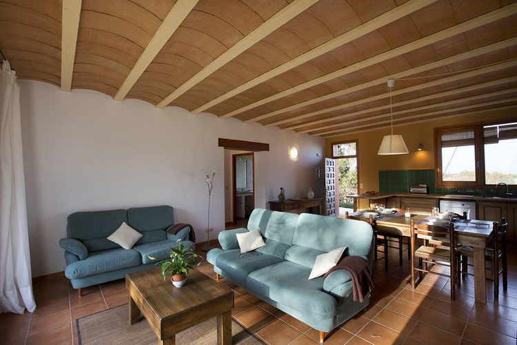 Living room showing  kitchen Costa Brava House