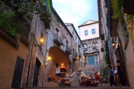 The Jewish area in Girona old town