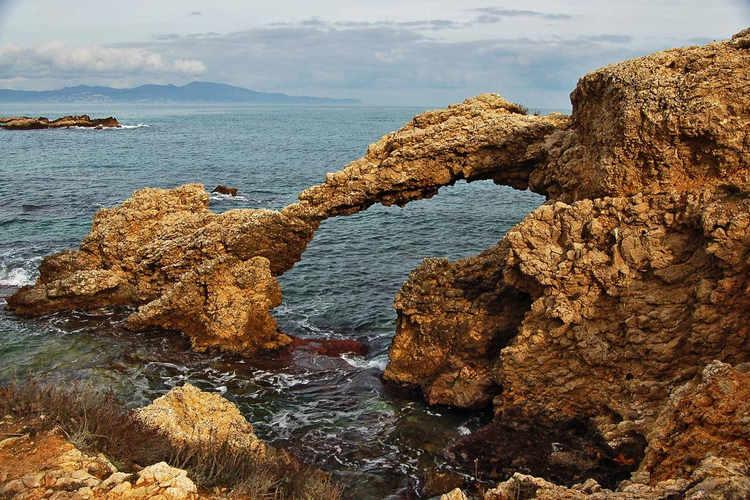 A rocky arch