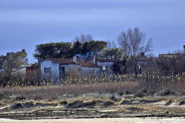 House behind the beach