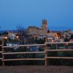 Evening view of Lladó village