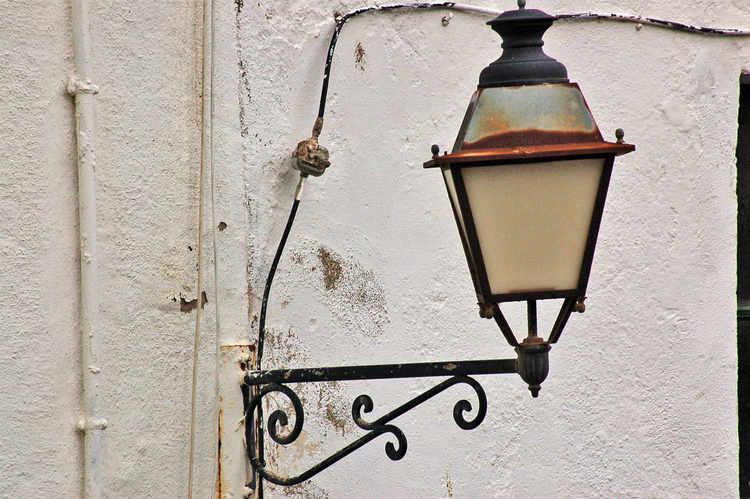 una vieja lámpara