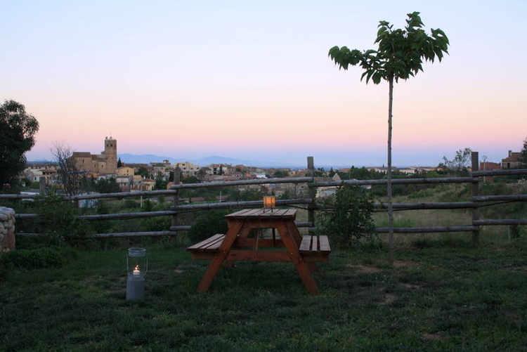 Jardin vistas pueblo