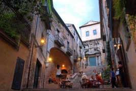 Barrio judío del casco antiguo de Girona