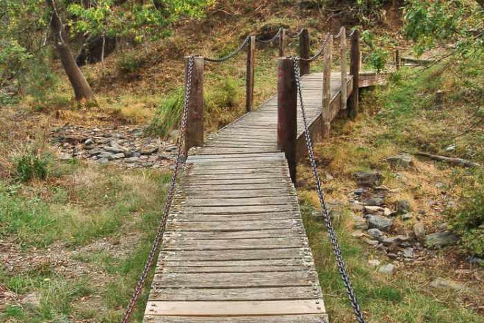 Pont de vianants sobre un rierol