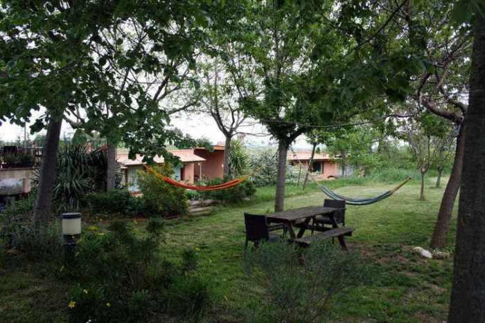 Hamaques al jardí